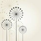 Abstraktní květina na šedém pozadí. — Stock vektor