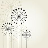 Flor abstrata sobre um fundo cinzento. — Vetorial Stock