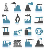 Set of icons on a theme the industry. — Stock Vector