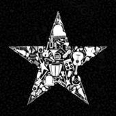 Müzik aletleri yıldız. — Stok Vektör