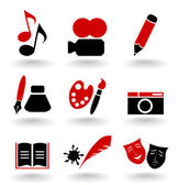 Set of icons on a theme art. — Stock Vector