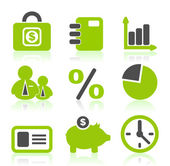 Set of icons on a theme business. — Stock Vector