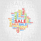 Abstract background of sales. — Vettoriale Stock