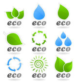 Icons on a theme the nature. — Stock Vector