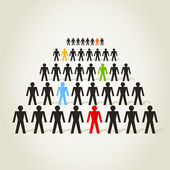 The crowd the person goes a line. — Stock Vector