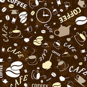 Brown background on a coffee theme. — Stock Vector