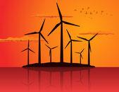 Ecologically a wind net energy. — Stock Vector