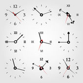 Set of dials of hours. — Stock Vector