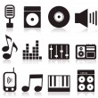 Set of icons on a theme music. — Cтоковый вектор #9819971
