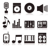 Set of icons on a theme music. — Stock Vector