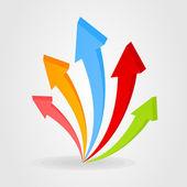Collectie van pijlen voor webdesign. — Stockvector