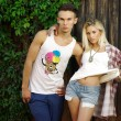 Stock Photo: Fashion shot of trendy boy and girl