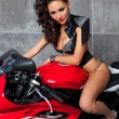 Royalty-Free Stock Photo: Sexy Girl on sportbike