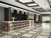 Moderno átrio de hotel — Fotografia Stock