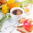 Elegant fresh breakfast — Stock Photo