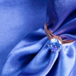 Ring with a gem — Lizenzfreies Foto