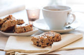 Homemade biscuits and a cup of tea — Stock Photo