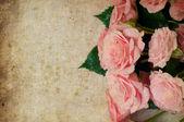 Vintage hintergrund mit rosen — Stockfoto