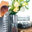 Stock Photo: Kitchen objects, cookware