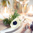 Holiday table setting — 图库照片