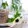 Holiday table setting - Foto de Stock