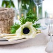 Holiday table setting - Foto Stock
