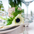 Foto Stock: Holiday table setting