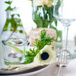 Holiday table setting — ストック写真