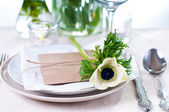 Holiday table setting — Stock Photo