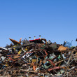 Scrap Metal Recycling Yard — Stock Photo