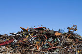 Scrap Metal Recycling Yard — Stock Photo