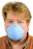 Man Wearing Dust Mask — Stock Photo