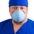 Stock Photo: Surgeon Wearing Surgical Mask