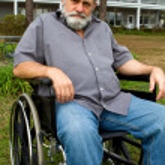 Cripple In Wheelchair — Stock Photo