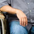 Disabled Man In Wheelchair — Stock Photo