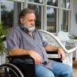 Stock Photo: Disabled Man In Wheelchair
