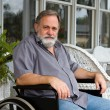 Stock Photo: Paraplegic Man