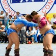 Mongolian wrestlers — Stock Photo