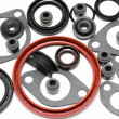 Stock Photo: Car engine gaskets