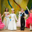 Childrens talents contest — Stock Photo