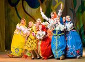 Girls - Russian dolls — Stock Photo