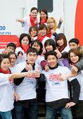 Dobrovolníci dárci krve — Stock fotografie