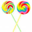 Two colourful lollipops — Stock Photo