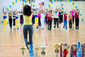 Festival of aerobics and fitness — Stock Photo