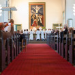 Rite of confirmation at Lutheran church — Stock Photo