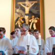 Rite of confirmation at Lutheran church — Stockfoto