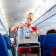 Air hostess at work - Stock Photo