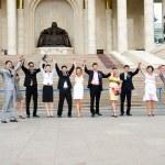 Rejoicing graduates — Stock Photo