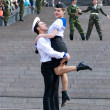 Dancers on Victory Day — Stock Photo