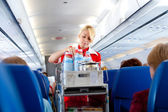 Air hostess at work — Stock Photo